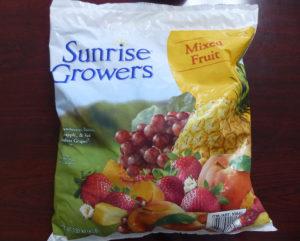 冷凍フルーツ袋表