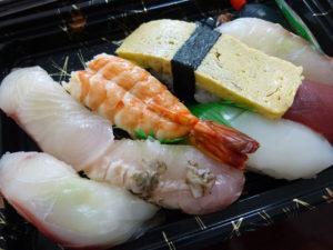 にぎり寿司アップ