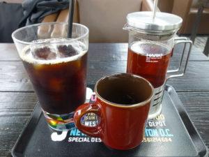 アイスコーヒーと紅茶