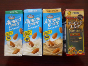 アーモンドミルク正面