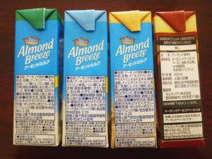 アーモンドミルク左側面