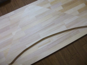 カット後の板と余った板