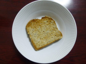 multi grain with omega-3 トースト後