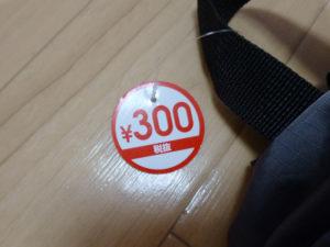 100円ではなく300円