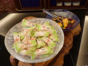 アフタヌーンティー おかきと野菜チップス