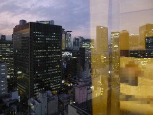 部屋からの景色:夕方